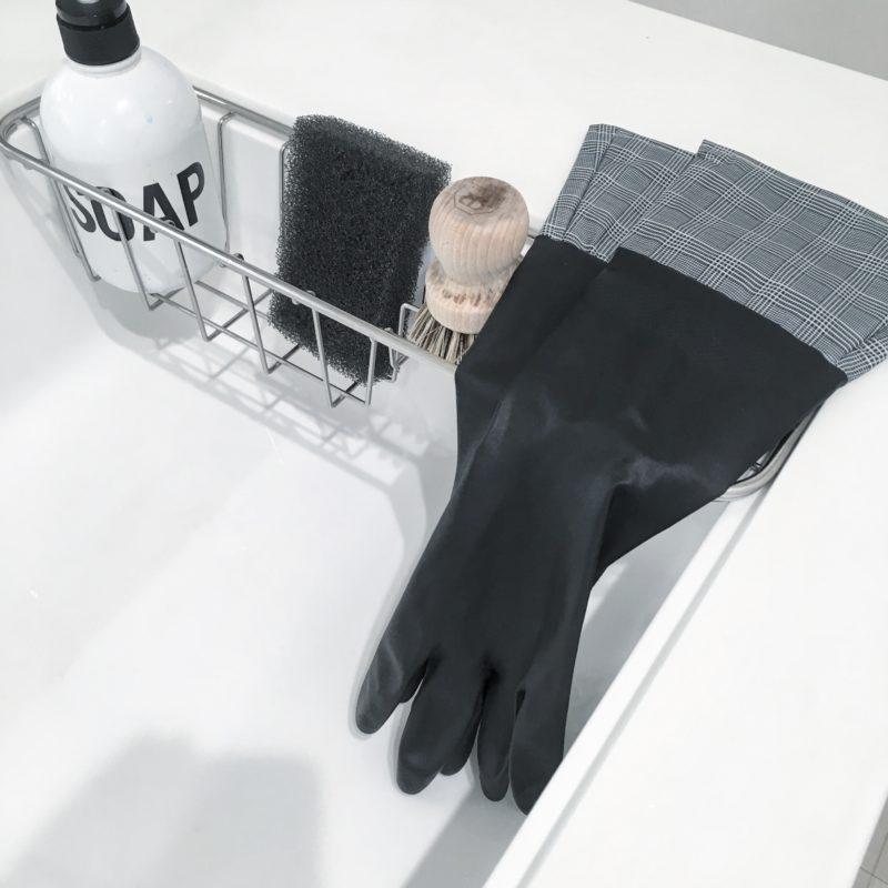 セリアのモノトーン キッチンゴム手袋を買いました☆