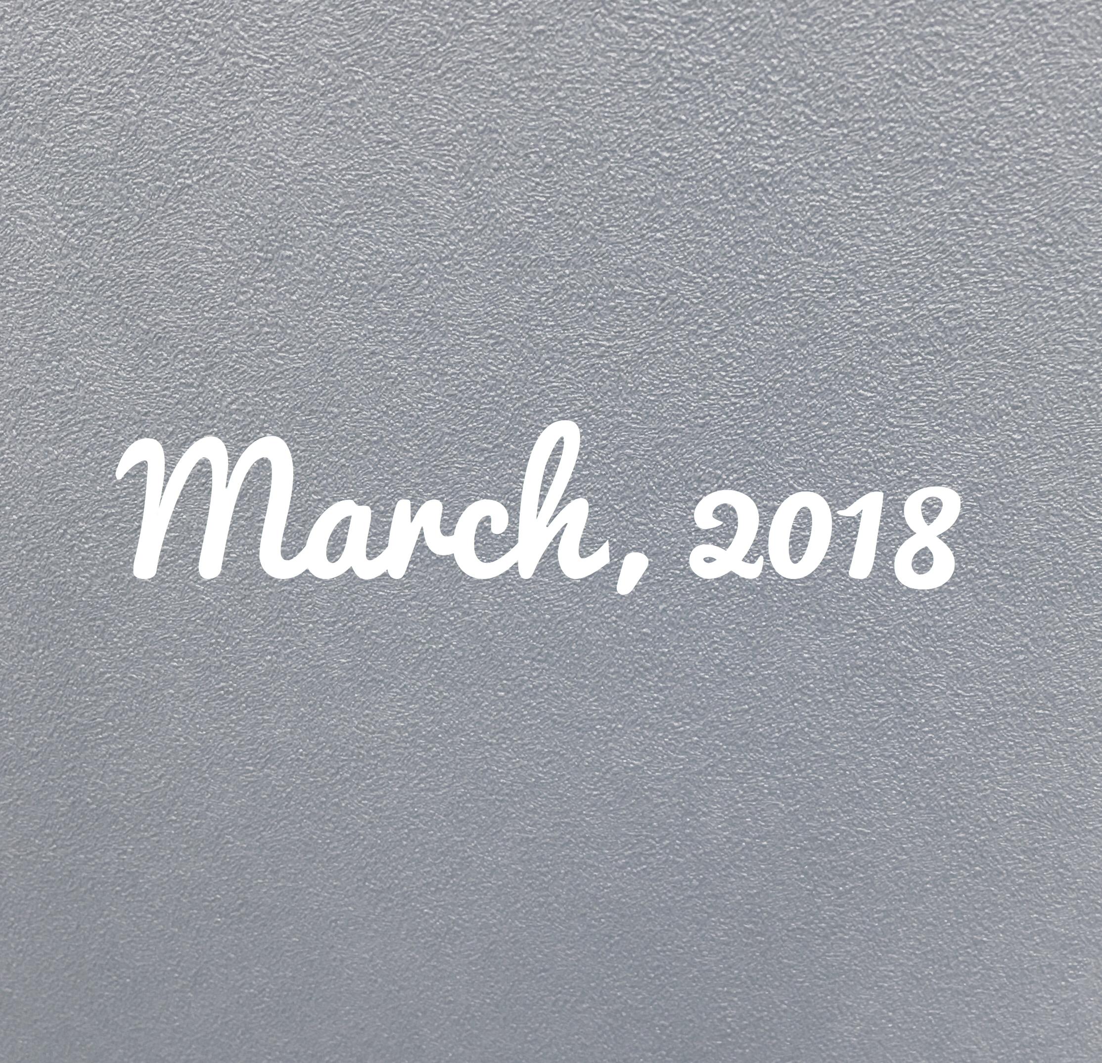 ★月はじめ★3月の目標とDIYした壁紙の糊残りを取る方法