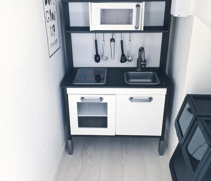 IKEAのおままごとキッチンをアレンジ♪とおもちゃ収納部屋を刷新!