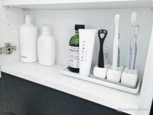 洗面所収納 歯ブラシ収納