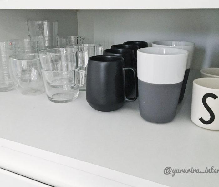 ★北欧雑貨★黒がかっこいいaida「ENSŌ」マグカップと食器棚収納♪