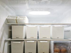 冷蔵庫収納 モノトーン