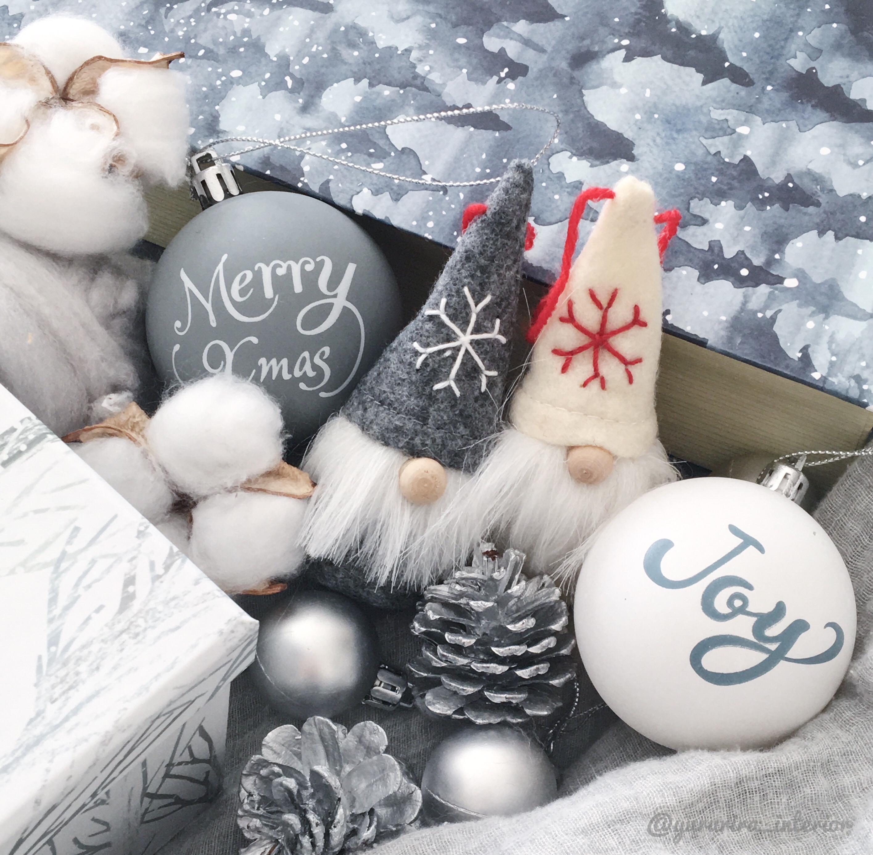 ★セリア★今年も秀逸!モノトーンなクリスマスツリーオーナメント♪