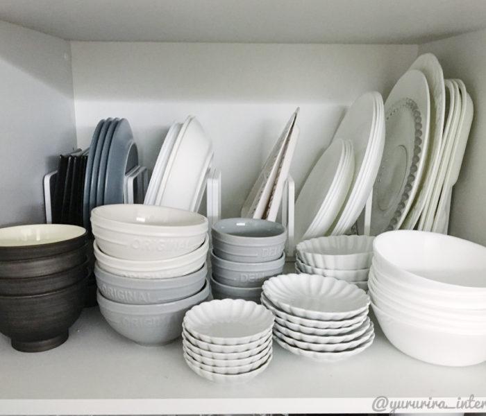 ★食器棚収納★towerのディッシュラックを活用した便利で美しい収納♪