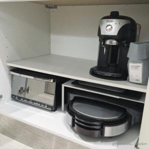 キッチン収納 モノトーン
