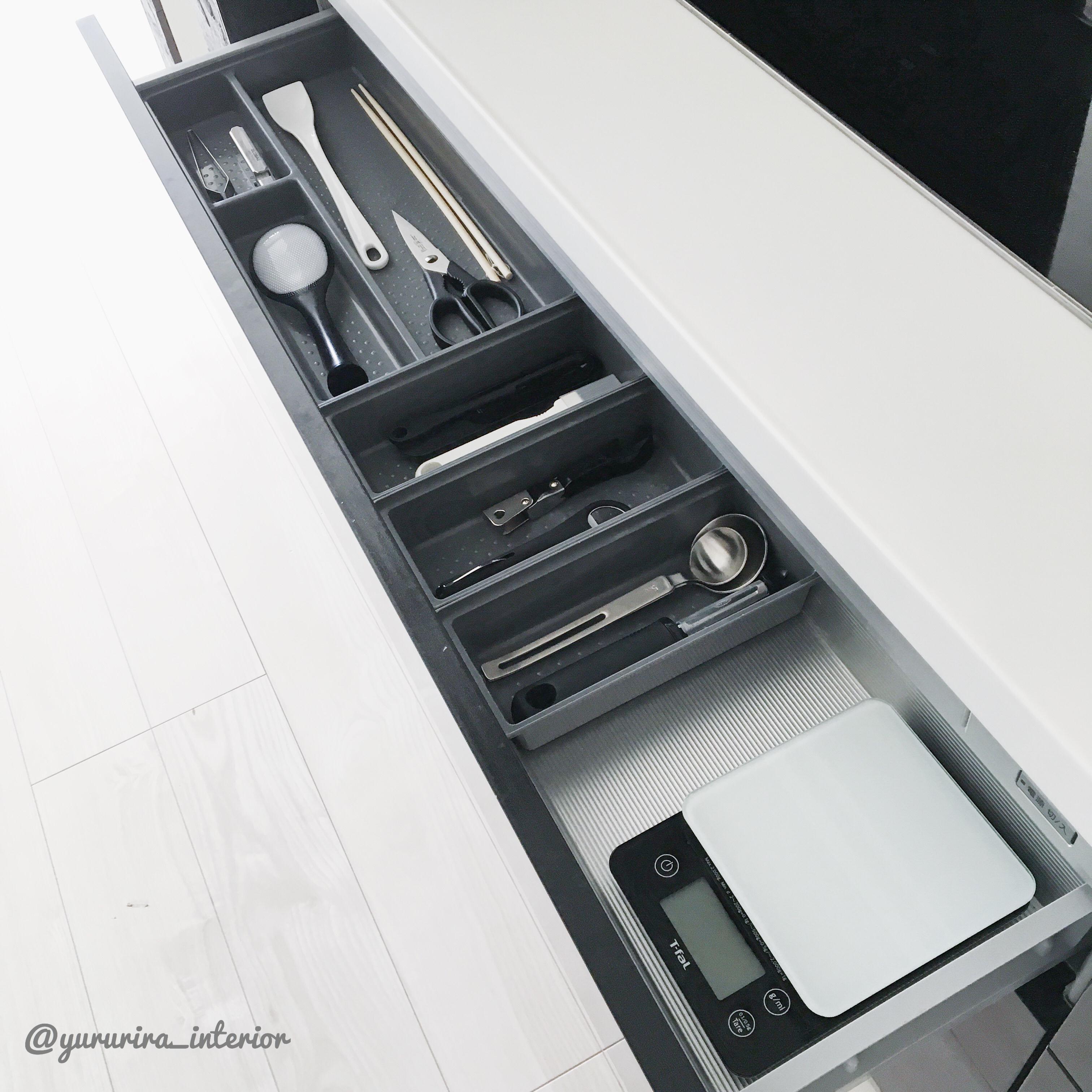 アイテム全紹介!IH下引き出し内のキッチン調理小物収納★