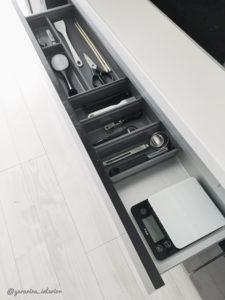 キッチン収納 モノトーンインテリア