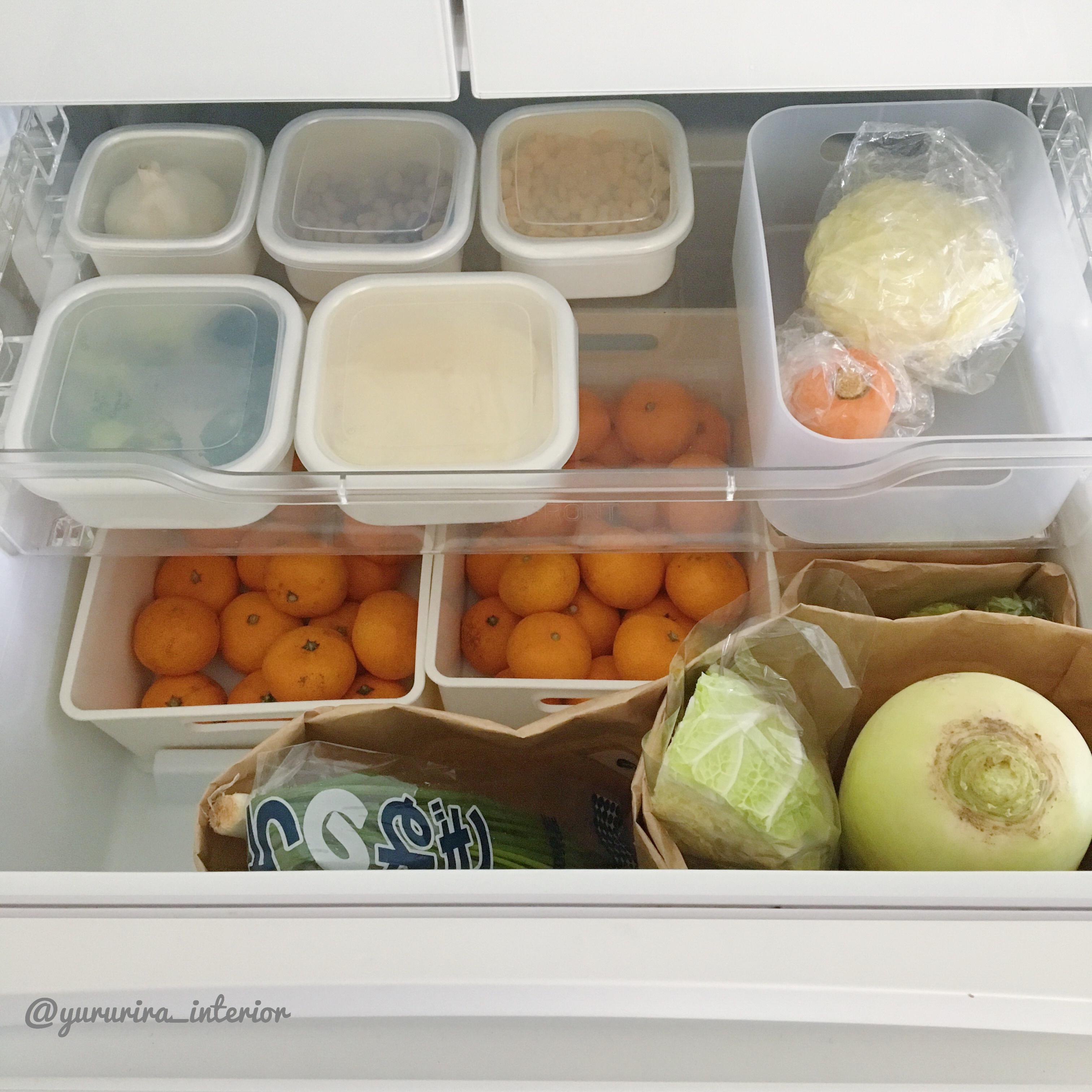楽天で買った完売極甘みかんと我が家の冷蔵庫野菜室