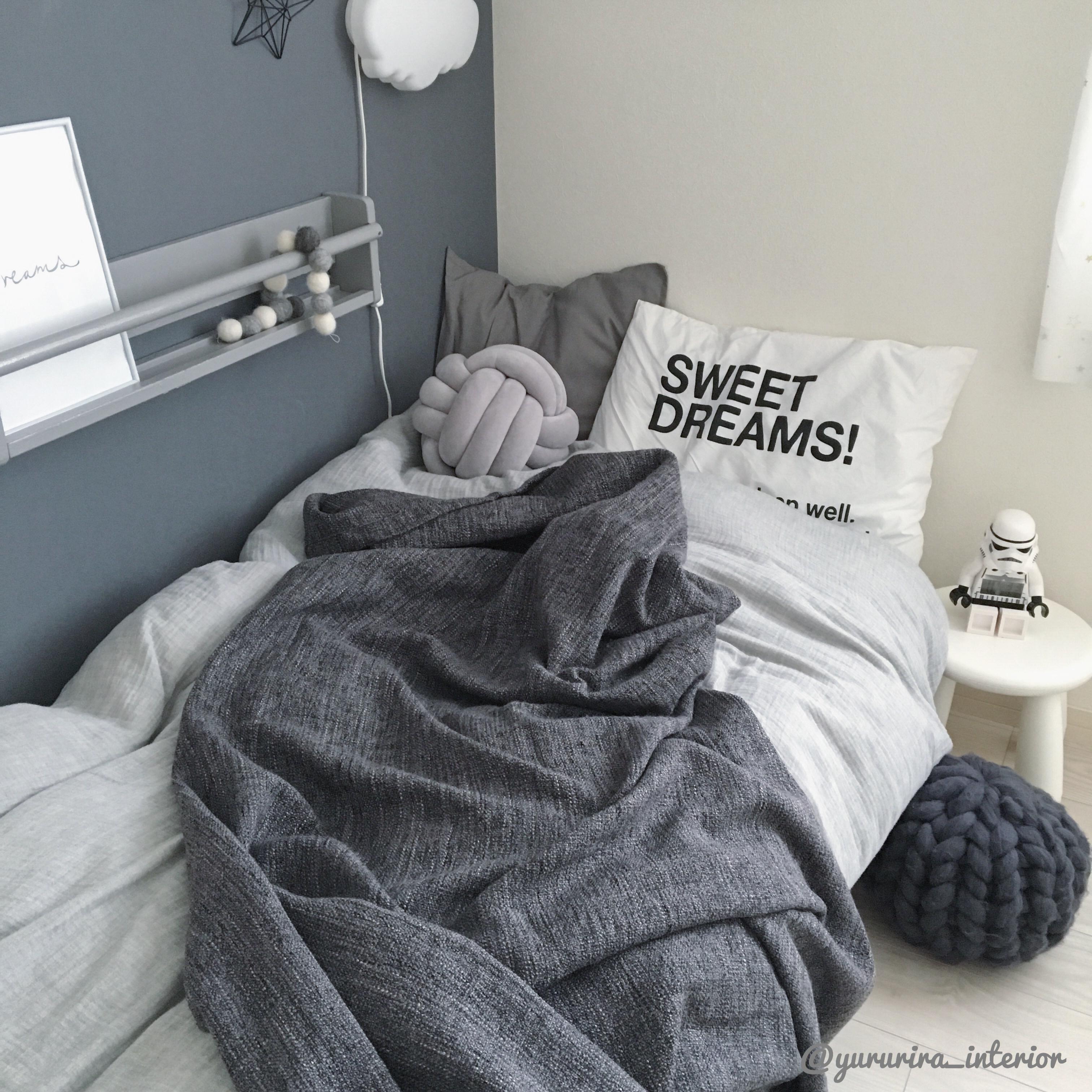 IKEA★素材感がツボなブランケットを長男部屋に。