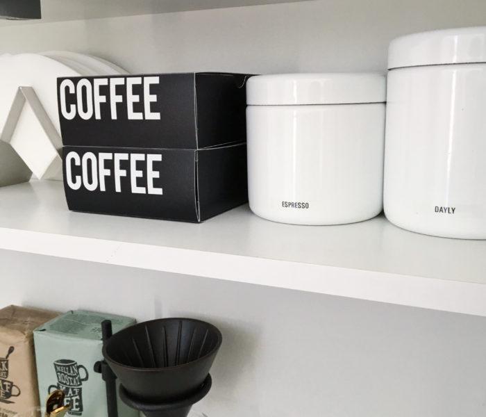 ★セリア★モノトーンデザインのコーヒーフィルターボックス