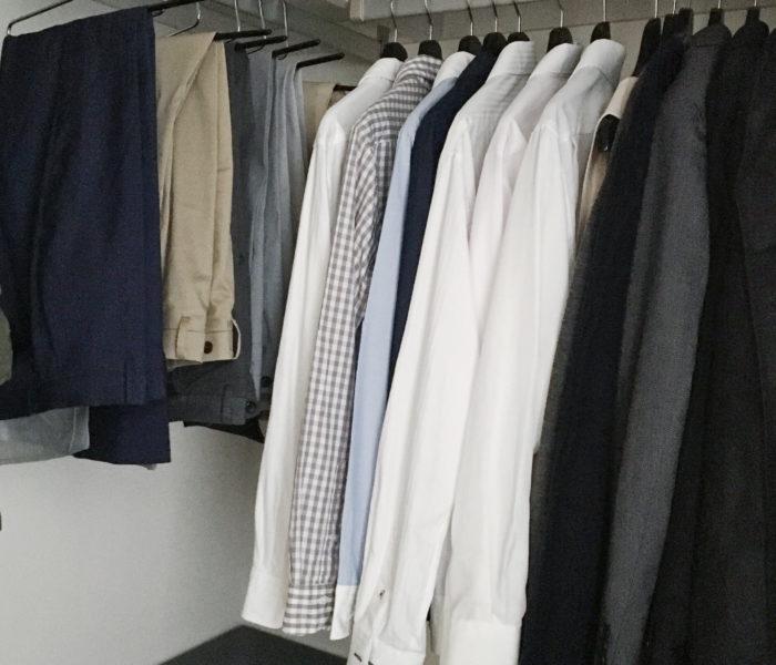 WIC収納★夫のビジネスシャツ・パンツの収納とハンガー