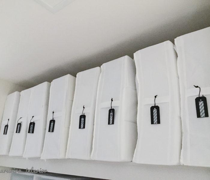 WIC収納★IKEAの収納ボックスにソスグレ商品で手作りタグ付け♪