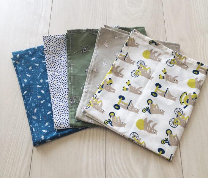 子供のためのもの★楽天で買った布で手作り給食ナフキン