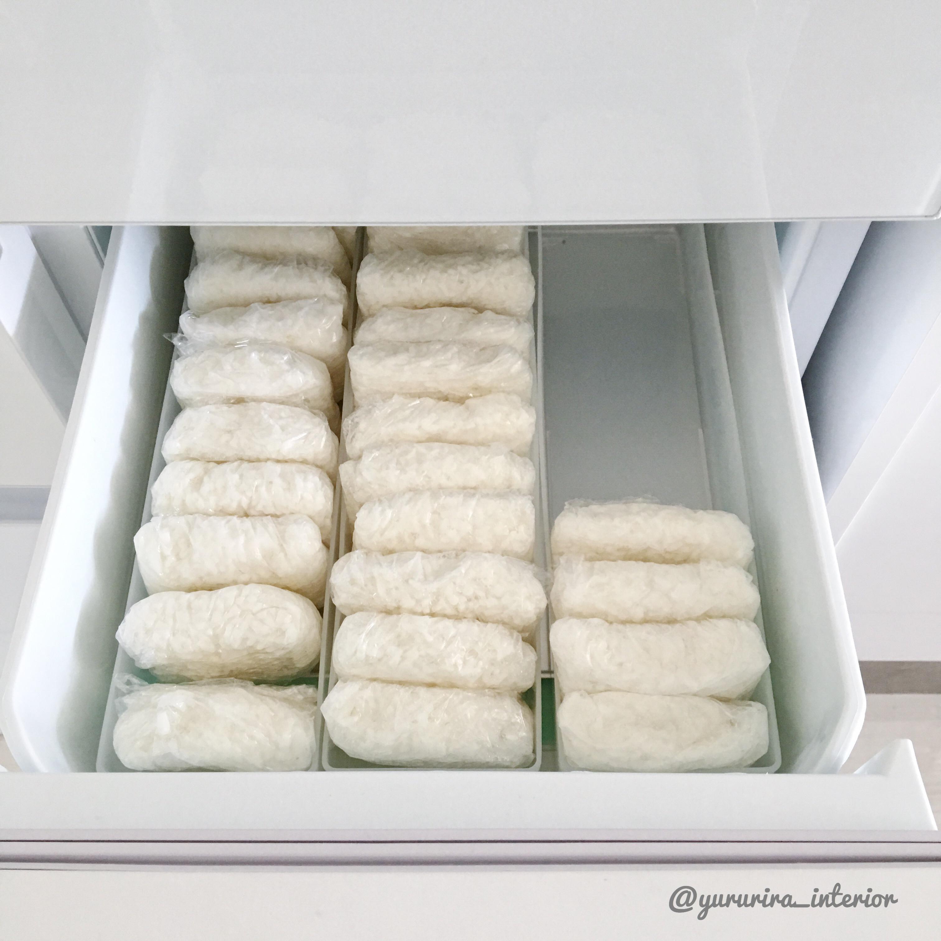 セリアの収納ボックスで冷凍ご飯をすっきり収納!