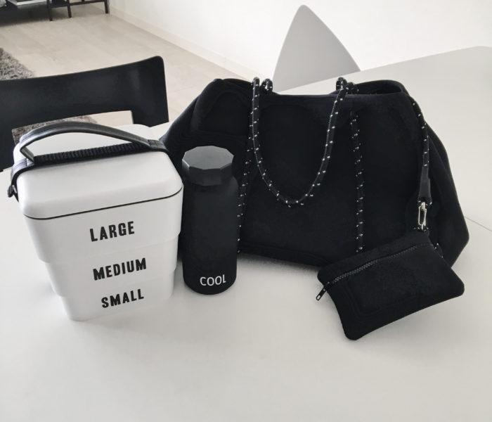 インスタで話題のマザーズバッグと正統派モノトーンな重箱