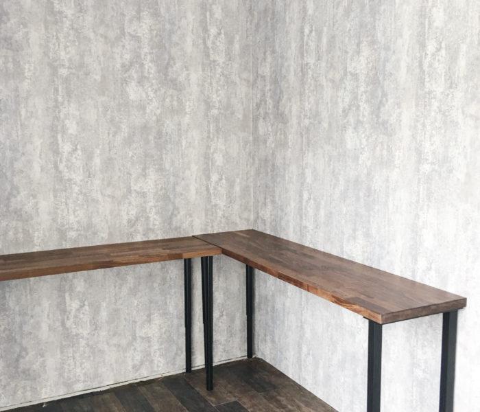 コンテナガレージリフォーム記録①★壁と床とカウンターテーブル
