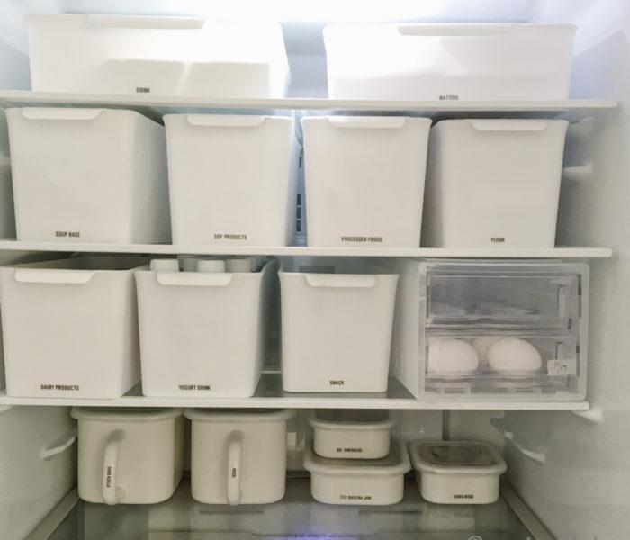 セリアのBOXで!冷蔵庫内のあのストックをすっきり収納