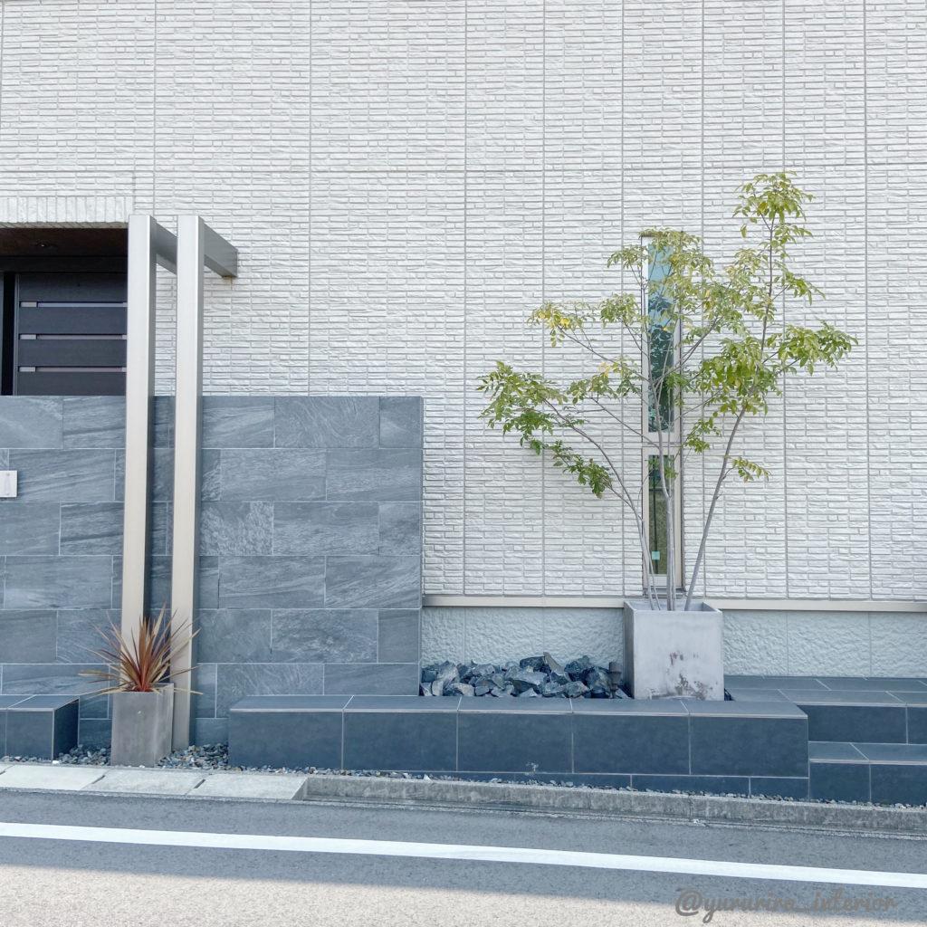 玄関側の外構とシンボルツリーにおすすめの植栽♪