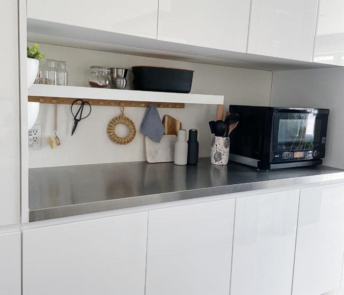 DIYで目指せ海外インテリア★キッチンに木製壁掛けフックを作りました