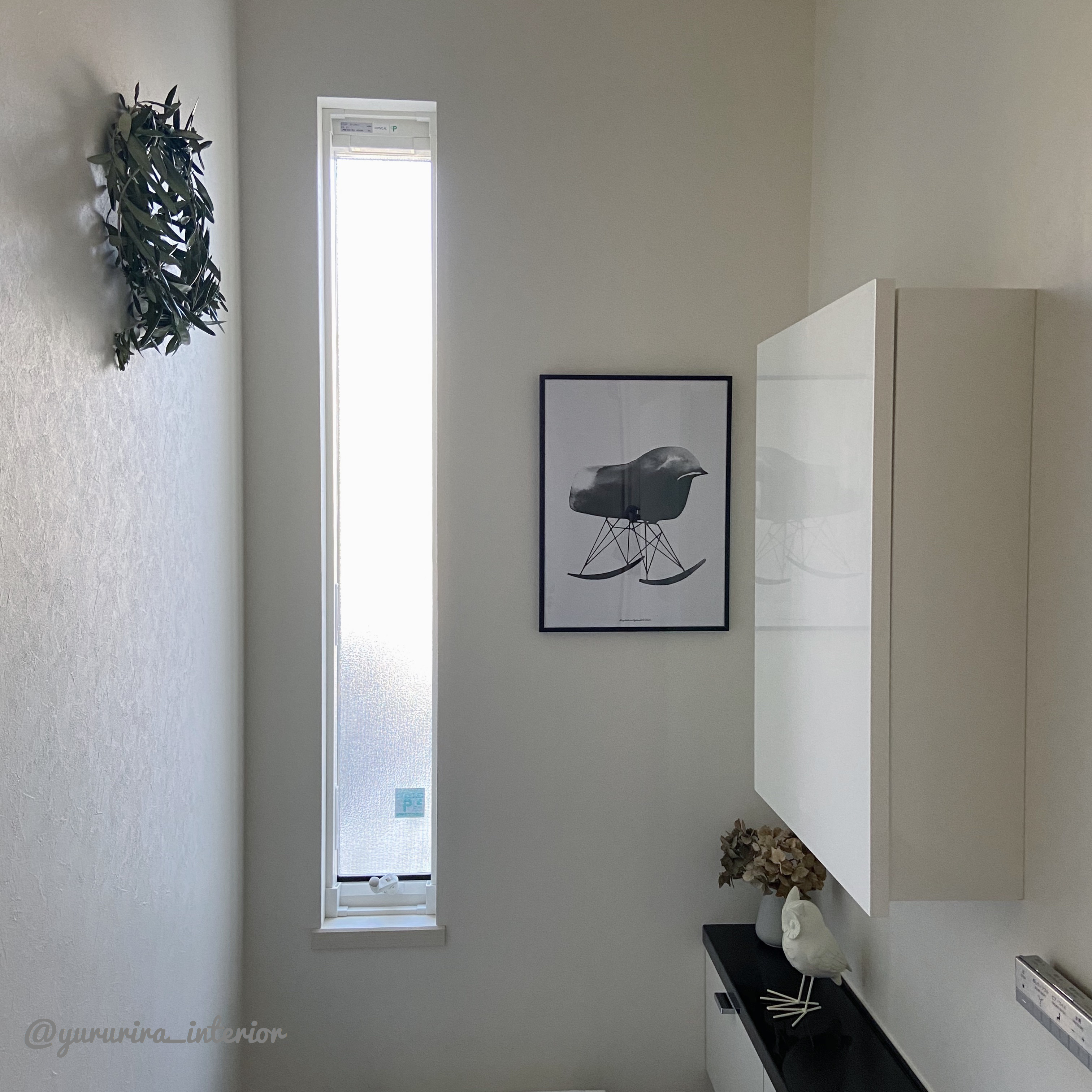 庭のオリーブで★トイレ内のオリーブリースとトイレ床の話