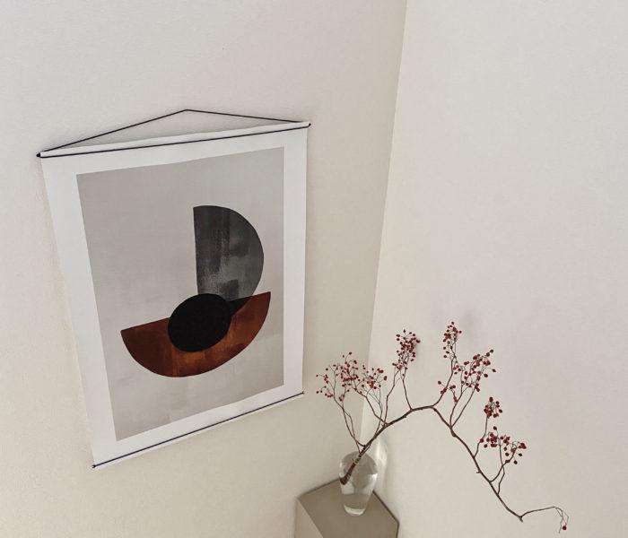DIY★お気に入りの花瓶を置く台DIYと北欧ポスターの話