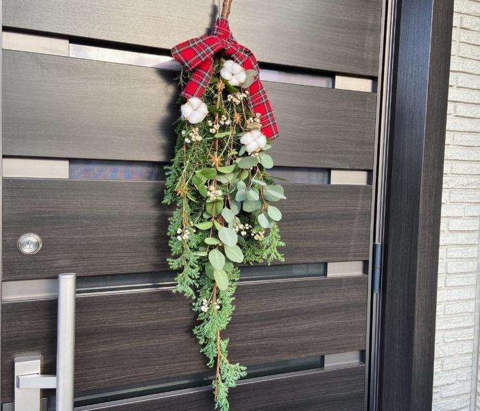 植物と100均材料で!クリスマススワッグを作りました♪