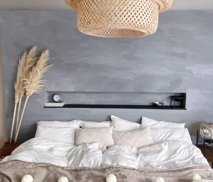 冬の主寝室インテリア★手作りベッドカバーを出しました