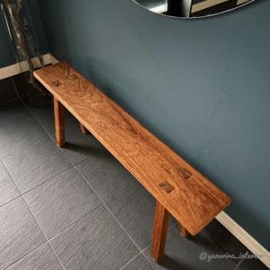 玄関インテリア 古材ベンチ