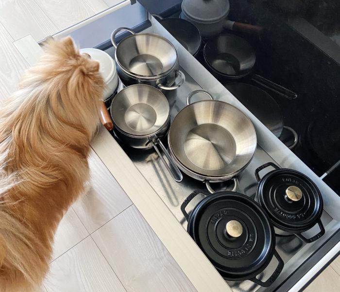 キッチン収納♪愛用の鍋と鍋類の収納