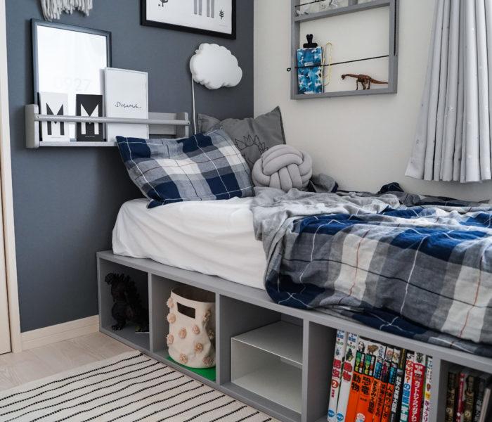 DIY★子供部屋に収納付きベッドを作りました♪